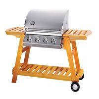 4Main Burner Wooden Gas Grill BBQ thumbnail image