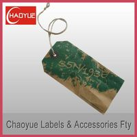 Paper hang tag for clothing