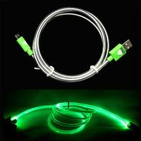 Pzcd LED Cylinder Visible Data Sync and Charge Cable for Micro USB Connector Devices thumbnail image