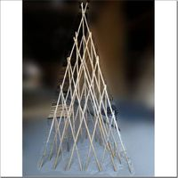 Bamboo pyramid shape trellis for gardening