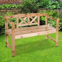 wooden 2-Seater Wooden Garden Bench