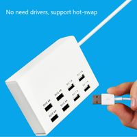 8 port usb Multi Device Charging Station smart charger output 2.4a 1a