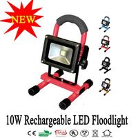 10W Portable LED Floodlight Emergency Rechargeable Lamp Camping Light Lamp Waterproof +2 Charger thumbnail image