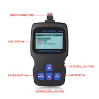 Autophix OM123 Hand-held Tester Scanner CAN OBD2 EOBD Engine Code Reader Auto Car Vehicle Diagnostic