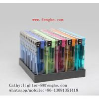 FH-810 cheap lighter slim plastic lighter gas electronic lighter