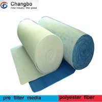 synthetic fiber spray booth air intake filter media