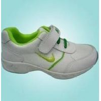 Green Logo Nike White Kid Low-cut Court Shoes