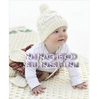 latest round neck pure cotton knitted baby sweater
