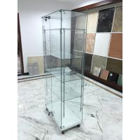 toughened glass display showcase,glass cabinet, glass jewelry display cabinet