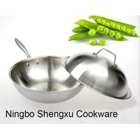 18/10 Stainless Steel Cookware Chinese Wok Cooking Frying Pan (SX-WO32-E)