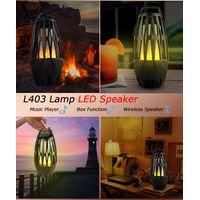 Smart Wireless BT Speaker Alexa Lamp Flame Romantic Speaker