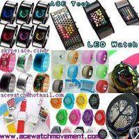 2011 Hot LED digital watch and led jelly watch