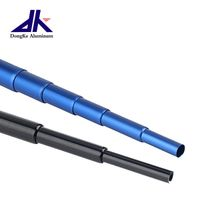 Small aluminum telescopic pole