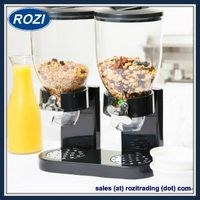 Black Color High Quality Dry Food Dispenser Cereal Dispenser Food Storage Home Dining Organizer New thumbnail image