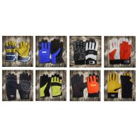 Anti Cut Heavy Duty Protective Working Safety mechanical leather Palm Gloves in wholesale thumbnail image