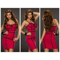 Rosy Textured Spaghetti Straps Bodycon Dress thumbnail image