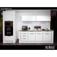 2015 Welbom White Paint Finish Oak Solid Wood Kitchen Cabinet