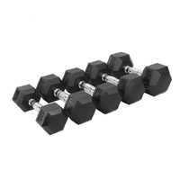 Laser LOGO Rubber Coated Hex Dumbbell