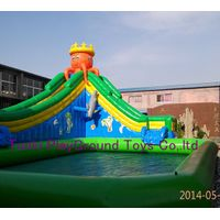 pool slide inflatable aqua pool water park