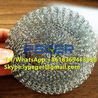 Galvanized mesh scourer/iron mesh scrubber/mesh scourer