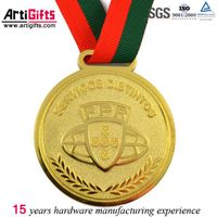 Custom-made zinc alloy gold neck ribbons medals thumbnail image