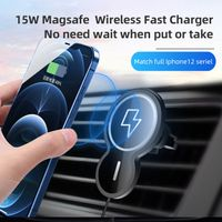Amazon Ebay supplier 2021 15w Magnetic wireless charger car holder for iPhone 12 thumbnail image