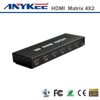 Factory price 3D HD 1080P  4x2 4 in 2 out HDMI matrix