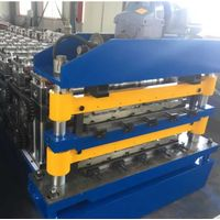 Low Price Metal Steel Double Layer Steel Roof Plate Iron Sheet Tiles Cold Roll Forming Making Machin thumbnail image