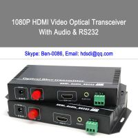 HDMI or DVI with Audio to fiber transmitter and receiver