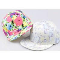 custom floral snapback hat with thumbnail image