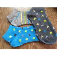 OEM Cotton Plain Children Socks with Jacquard