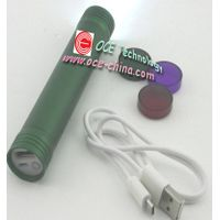 LED Flash Light W/Lithium Battery Portable Charger for Mobile Phone MP3/MP4