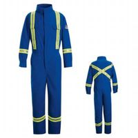 cotton/nylon arc resistant coverall with trim thumbnail image
