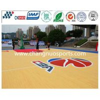 Wooden Texture Basketball Court Flooring thumbnail image
