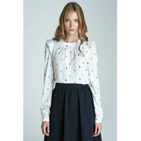 Long sleeve blouse - tears pattern