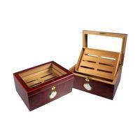 lacquered wooden cigar box thumbnail image