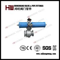 High Quality Carbon Steel Pneumatic Ball Valve Wcb Ball Valve with Pneumatic