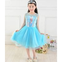 2014 new  korea summer dress for kid Frozen Dress Elsa & Anna Summer Dress