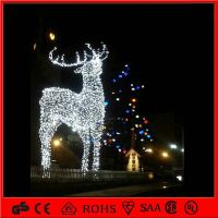 outdoor christmas decoration light 3d motif reindeer