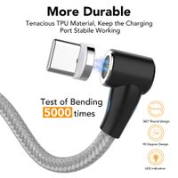 360°Rotation Magnetic Charging Cable,3 in 1 Charger Cord Compatible with Mirco USB, Type C Android thumbnail image
