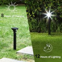 Solar Outdoor Garden Light IP65 Bollard Lawn Lighting PIR Motion Sensor Modern Pathway Light thumbnail image