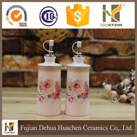 decorative ceramic olive oil bottle