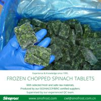 Frozen Chopped Spinach Tablets/IQF Chopped Spinach Tablets thumbnail image