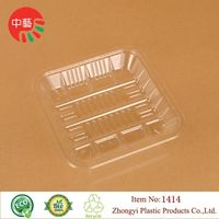 clear disposable plastic fruit food tray thumbnail image