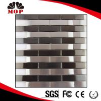 Convex Strip Metal Mosaic Black mixed Silver Design