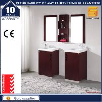Simple Style Floor Mounted MDF Bathroom Vanity Cabinet with Side Cabinet