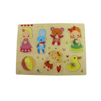 Hot Chirstmas Gift Wooden Girl Playing Puzzle Toy for Kids and Children thumbnail image