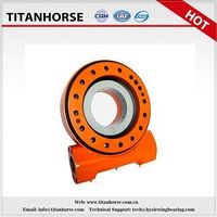 Titanhorse 5 inch single slewing drive with 24 dc motor for antenna and solar tracking system