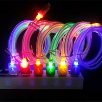 Color Changing LED Shining Visible Cylinder Data Sync / Charging Cable for Android Devices - 100cm thumbnail image