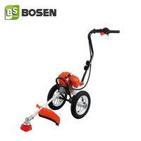 43cc Gasoline Wheel Hand Push Brush Cutter Grass Trimmer